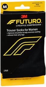 Futuro Energizing Trouser Socks for Women Mild Compression Black Medium