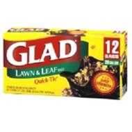 Glad Quick-Tie Lawn & Leaf Garbage Bags, 39 Gal - 12ct