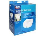 Carex Raised Toilet Seat - 1 each