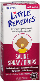 Little Remedies Saline Nasal Spray/Drops - 1 oz