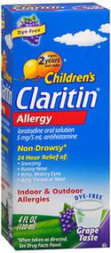 Claritin Children's Allergy Solution Grape Flavor - 4 oz