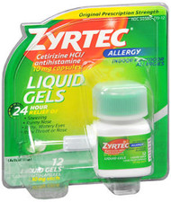 Zyrtec Allergy 10 mg Liquid Gels - 12 ct