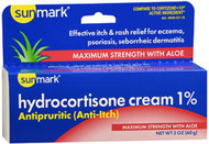 Sunmark Hydrocortisone Cream 1% Maximum Strength With Aloe - 2 oz