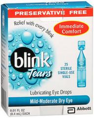 Blink Tears Lubricating Eye Drops Mild-Moderate Dry Eye, 25 Pk - 0.01 oz