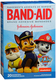 Band-Aid Bandages Nickelodeon Paw Patrol Assorted Sizes - 20 ct