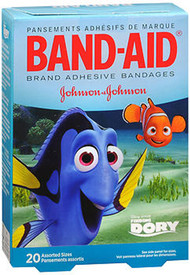 Band-Aid Brand Adhesive Bandages Finding Dory Assorted Sizes - 20 ct