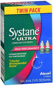 Systane Ultra Lubricant Eye Drops - Two 10 mL Bottles