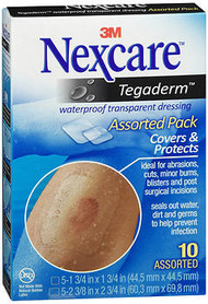3M Nexcare Tegaderm Waterproof Transparent Dressing Assorted Pack - 10 Dressings