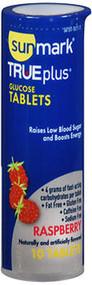 Sunmark Glucose Tablets Raspberry - 6 packs of 10