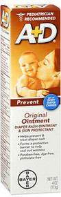 Image of 4-ounce tube of A and D Diaper Rash baby ointment