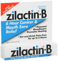 Zilactin-B Canker & Mouth Sore Gel - 0.25 oz