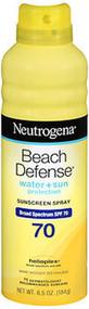 Neutrogena Beach Defense Sunscreen Spray SPF 70