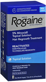 Rogaine Extra Strength Hair Regrowth Treatment Men's , Unscented - 2 oz