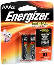 Energizer MAX Alkaline Batteries AAA - 2pk