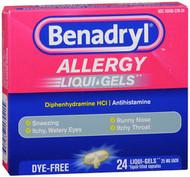 Benadryl Allergy Liqui-Gels Dye-Free - 24 ct