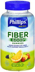 Phillips' Fiber Good Soluble Supplement Gummies Natural Fruit Flavors  - 90 ct