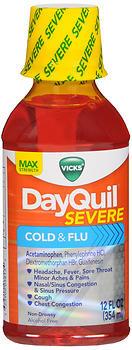 Vicks Dayquil Severe Cold Flu Liquid Max Strength 12 Oz