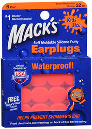Mack's Soft Moldable Silicone Putty Earplugs Kids Size - 6 ct