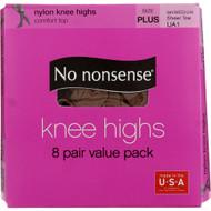 No Nonsense Knee Highs, Tan, Queen - 1 box