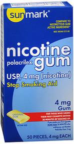 Sunmark Nicotine Polacrilex Gum 4 mg Original Flavor - 50 ct