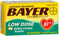 Bayer Low Dose Safety Coated 'Baby' Aspirin 81 mg Tablets - 32 ct