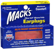 Mack's Pillow Soft Silicone Putty Earplugs 22 dB - 2 Pair