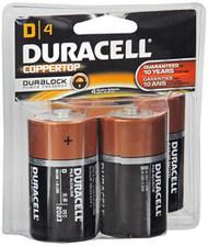 Duracell Coppertop D Alkaline Batteries 1.5 Volt - 4 pk