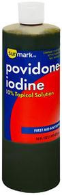 Sunmark Povidone-Iodine 10% Topical Solution - 16 oz