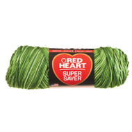 E300 Super Saver Yarn, Green Tones Multi, 5 oz - 3 Packs