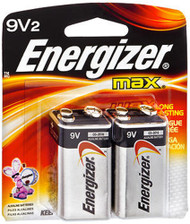 Energizer MAX Alkaline Batteries 9 Volt - 2pk