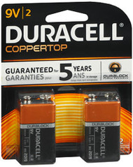 Duracell Coppertop Alkaline Batteries 9 Volt - 2pk