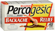 Percogesic Backache Relief Caplets, Maximum Strength - 48 ct