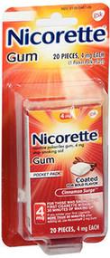 Nicorette Nicotine Polacrilex Gum 4 mg Cinnamon Surge - 20 ct