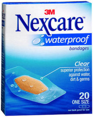 Nexcare Waterproof Clear Bandages One Size - 20 ct