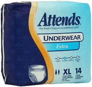 Attends Underwear Extra Absorbency Extra Large - 4 pks of 14