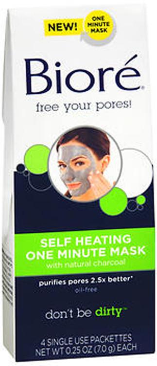 Biore Self Heating One Minute Mask - 4 Pack