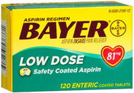 Bayer Low Dose Safety Coated Aspirin 81 mg Tablets - 120 ct