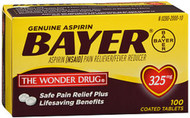 Bayer Aspirin 325 mg Coated Tablets - 100 ct