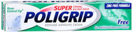 Super Poligrip Denture Adhesive Cream Artificial Flavor/Color Free - 2.4 oz