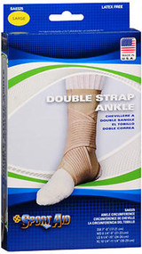 Sport Aid Double Strap Ankle Support LG - 1 ea.