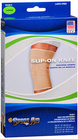 Sport Aid Slip-On Knee Wrap Lg Beige - 1 ea.