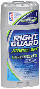Right Guard Total Defense Power Stripe Anti-Perspirant Deodorant Invisible Solid Arctic Refresh - 2.6 oz
