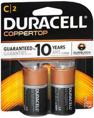 Duracell Coppertop C Alkaline Batteries 1.5 Volt - 2pk