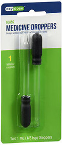 Ezy Dose 1 ml Straight/Bent Tip Glass Droppers - 2 ct