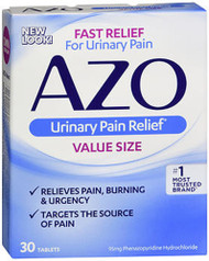 Azo Urinary Pain Relief Tablets - 30 ct
