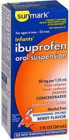 Sunmark Infants' Ibuprofen Oral Suspension Berry Flavor Dye-Free - 1 oz