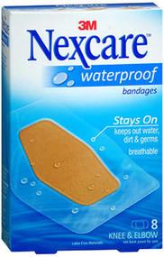 Nexcare Waterproof Bandages Knee & Elbow - 8 ct
