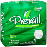 Prevail Extra Underwear 2X-Large - 4 pks of 12