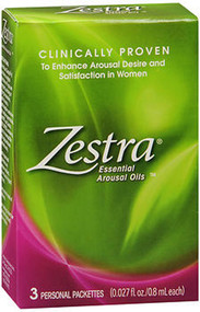 Zestra Essential Arousal Oils Personal Packets - 3 ea.