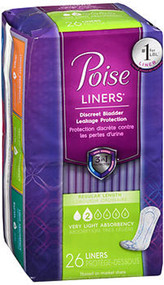 Poise Very Light Absorbency Liners - 8 pks of 26